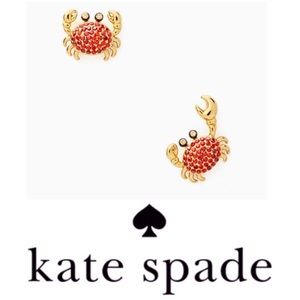 JUST IN - Kate Spade Shore Thing Crab Pave Studs